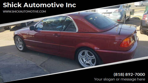 2001 BMW 3 Series for sale at Shick Automotive Inc in North Hills CA