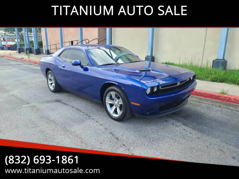 2020 Dodge Challenger for sale at TITANIUM AUTO SALE in Houston TX