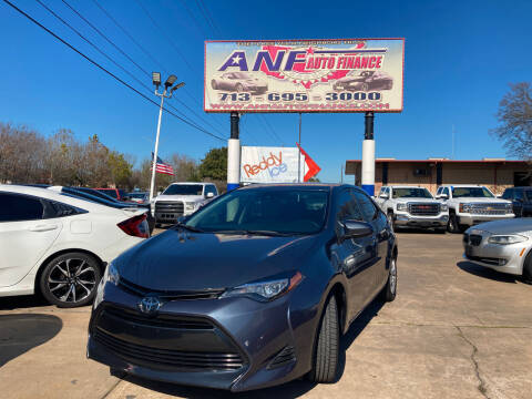 2019 Toyota Corolla for sale at ANF AUTO FINANCE in Houston TX