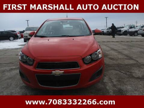 2012 Chevrolet Sonic for sale at First Marshall Auto Auction in Harvey IL