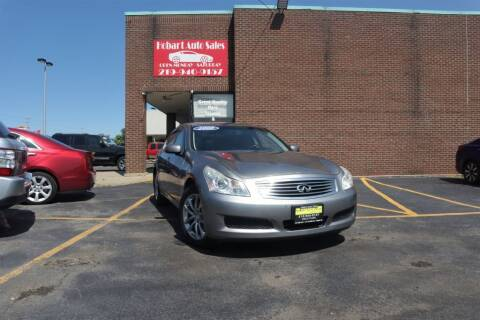 2008 Infiniti G35 for sale at Hobart Auto Sales in Hobart IN