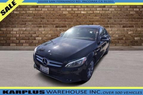 2015 Mercedes-Benz C-Class for sale at Karplus Warehouse in Pacoima CA