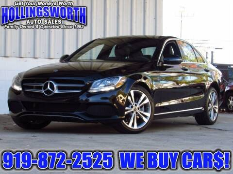 2018 Mercedes-Benz C-Class for sale at Hollingsworth Auto Sales in Raleigh NC