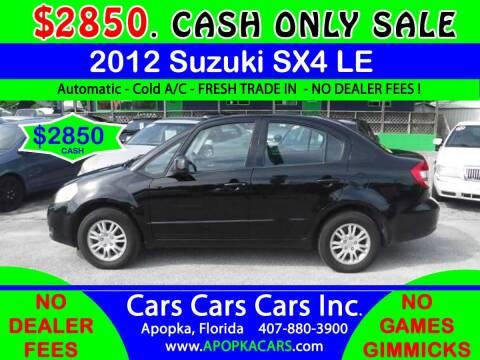 2012 Suzuki SX4 for sale at CARS CARS CARS INC in Apopka FL