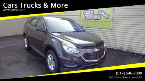 2016 Chevrolet Equinox for sale at Cars Trucks & More in Howell MI