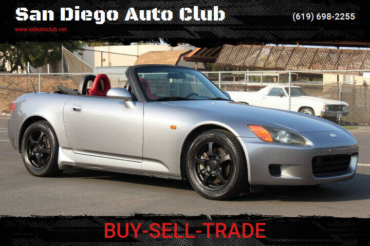 2000 Honda S2000 for sale at San Diego Auto Club in Spring Valley CA