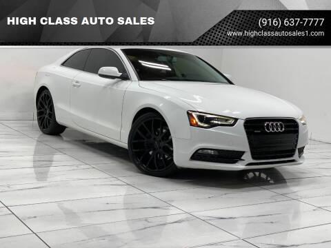 2013 Audi A5 for sale at HIGH CLASS AUTO SALES in Rancho Cordova CA