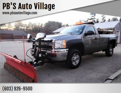 2013 Chevrolet Silverado 2500HD for sale at PB'S Auto Village in Hampton Falls NH