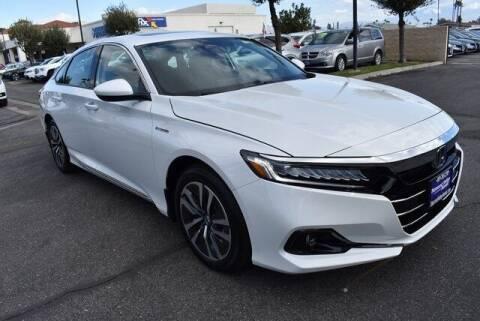 2021 Honda Accord Hybrid for sale at DIAMOND VALLEY HONDA in Hemet CA