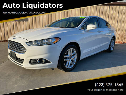 2016 Ford Fusion for sale at Auto Liquidators in Bluff City TN