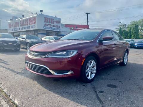 2015 Chrysler 200 for sale at Big Three Auto Sales Inc. in Detroit MI