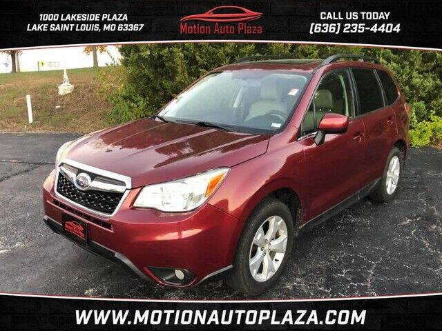 2014 Subaru Forester for sale at Motion Auto Plaza in Lakeside MO