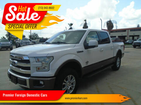 2015 Ford F-150 for sale at Premier Foreign Domestic Cars in Houston TX