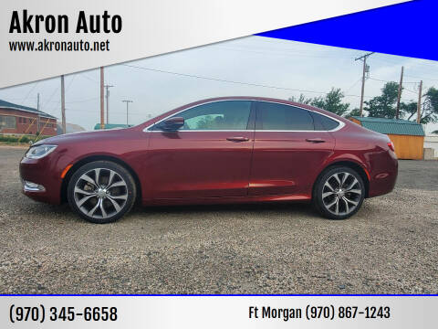 2015 Chrysler 200 for sale at Akron Auto - Fort Morgan in Fort Morgan CO