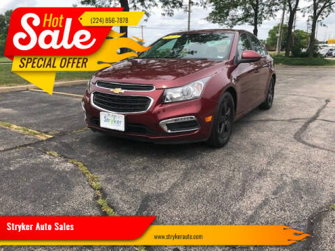 2015 Chevrolet Cruze for sale at Stryker Auto Sales in South Elgin IL