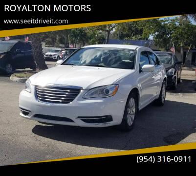 2012 Chrysler 200 for sale at ROYALTON MOTORS in Plantation FL