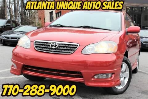 2005 Toyota Corolla for sale at Atlanta Unique Auto Sales in Norcross GA