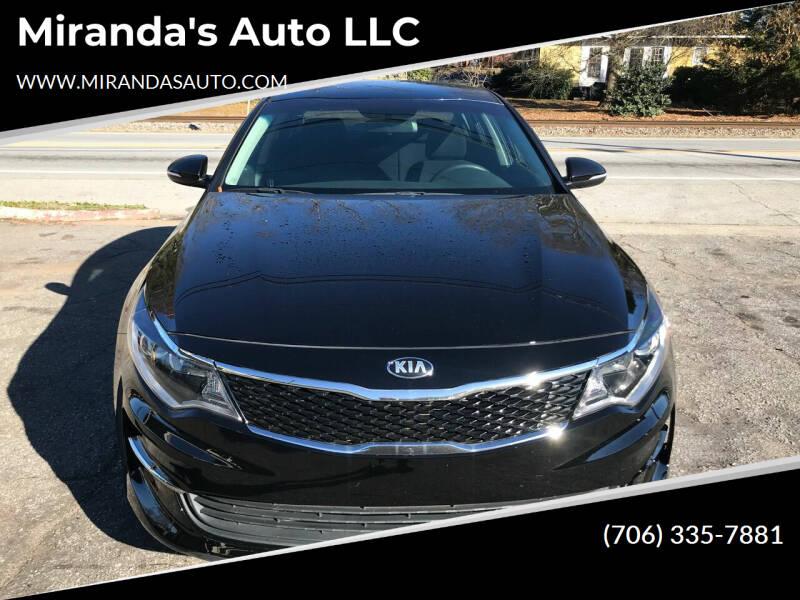 2016 Kia Optima for sale at Miranda's Auto LLC in Commerce GA