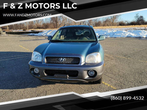 2003 Hyundai Santa Fe for sale at F & Z MOTORS LLC in Waterbury CT