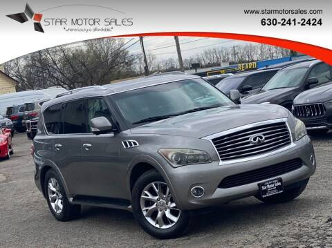 2011 Infiniti QX56 for sale at Star Motor Sales in Downers Grove IL