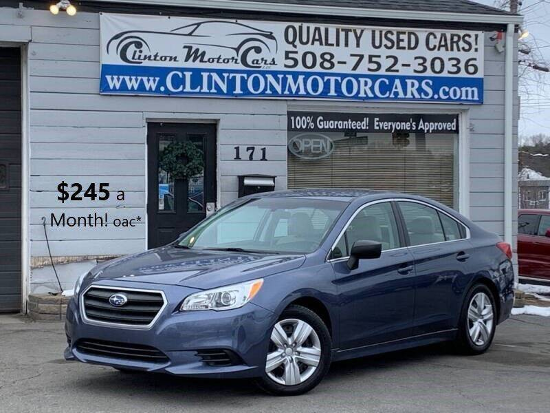 2017 Subaru Legacy for sale at Clinton MotorCars in Shrewsbury MA