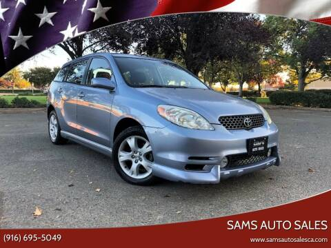 2003 Toyota Matrix for sale at Sams Auto Sales in North Highlands CA
