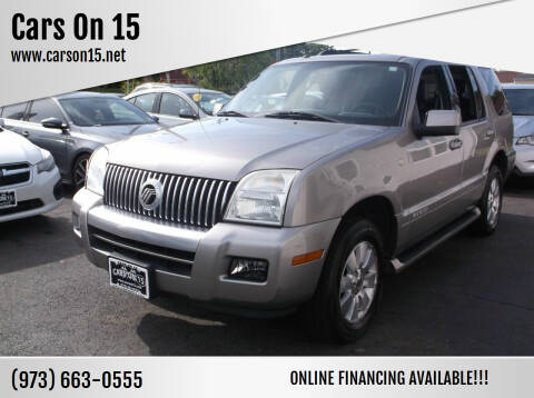2008 Mercury Mountaineer for sale at Cars On 15 in Lake Hopatcong NJ