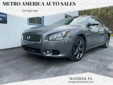 2014 Nissan Maxima for sale at METRO AMERICA AUTO SALES of Manheim in Manheim PA