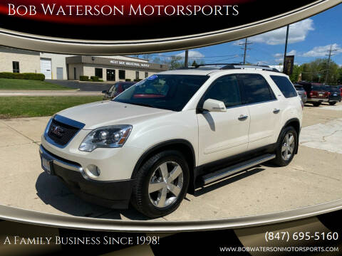 2011 GMC Acadia for sale at Bob Waterson Motorsports in South Elgin IL