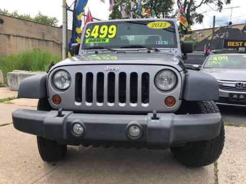 2013 Jeep Wrangler for sale at Best Cars R Us LLC in Irvington NJ
