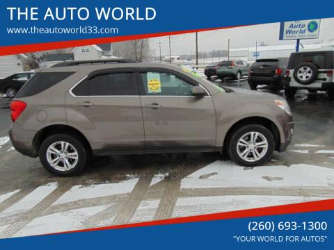 2011 Chevrolet Equinox for sale at THE AUTO WORLD in Churubusco IN
