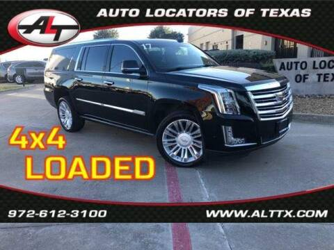 2017 Cadillac Escalade ESV for sale at AUTO LOCATORS OF TEXAS in Plano TX