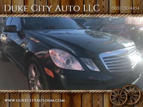 2010 Mercedes-Benz E-Class for sale at Duke City Auto LLC in Gallup NM
