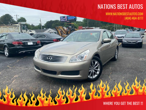 2009 Infiniti G37 Sedan for sale at Nations Best Autos in Decatur GA