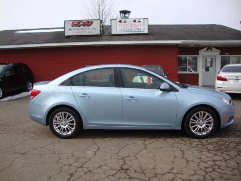 2011 Chevrolet Cruze for sale at G and G AUTO SALES in Merrill WI