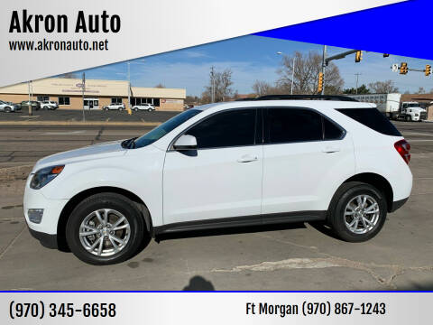 2017 Chevrolet Equinox for sale at Akron Auto - Fort Morgan in Fort Morgan CO