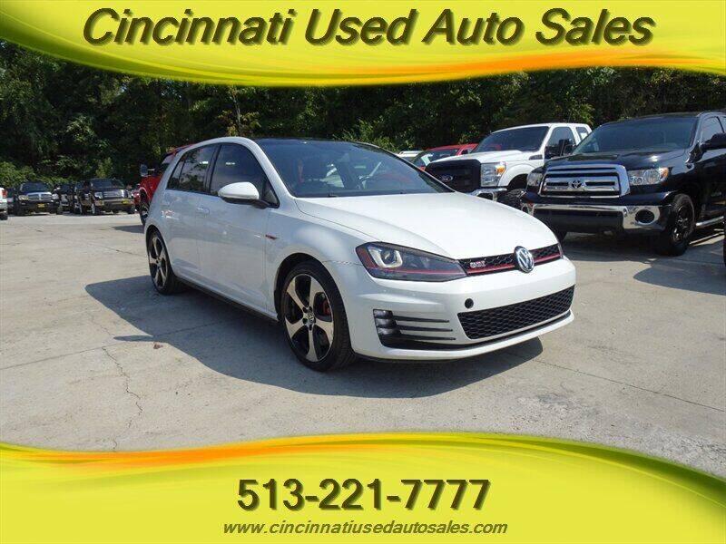 2016 Volkswagen Golf GTI for sale at Cincinnati Used Auto Sales in Cincinnati OH