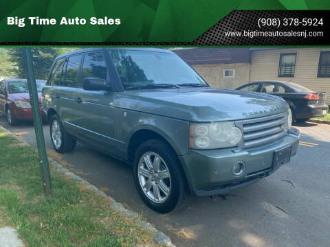 2006 Land Rover Range Rover for sale at Big Time Auto Sales in Vauxhall NJ