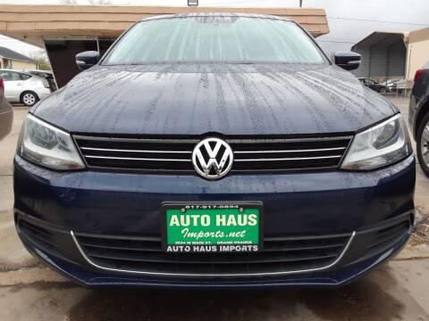 2013 Volkswagen Jetta for sale at Auto Haus Imports in Grand Prairie TX