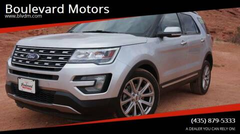 2016 Ford Explorer for sale at Boulevard Motors in St George UT