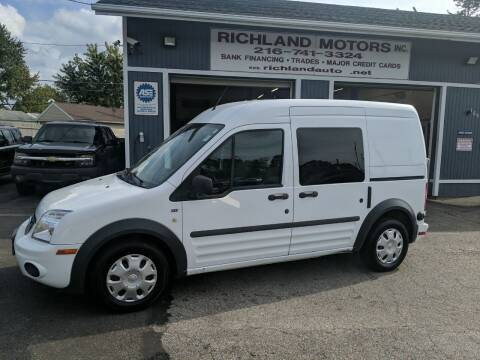 2012 Ford Transit Connect for sale at Richland Motors in Cleveland OH