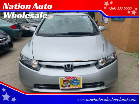 2007 Honda Civic for sale at Nation Auto Wholesale in Cleveland OH