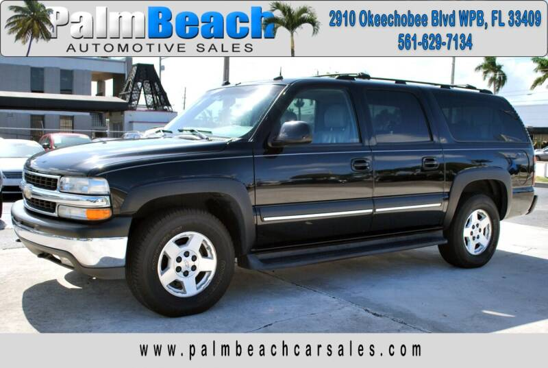 2004 Chevrolet Suburban for sale at Palm Beach Automotive Sales in West Palm Beach FL