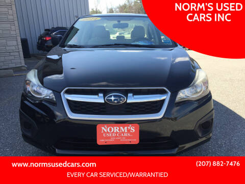 2014 Subaru Impreza for sale at NORM'S USED CARS INC in Wiscasset ME
