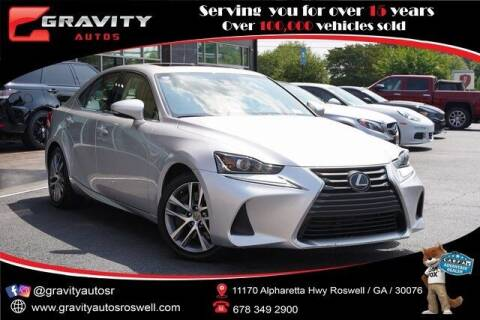 2019 Lexus IS 300 for sale at Gravity Autos Roswell in Roswell GA