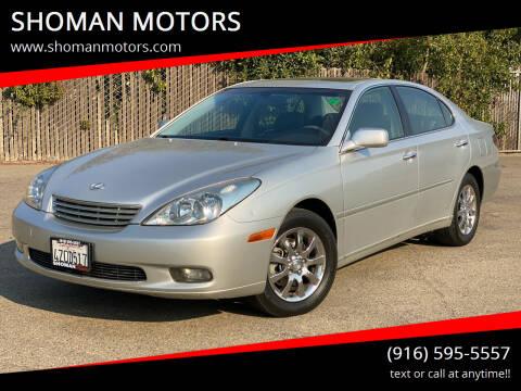 2002 Lexus ES 300 for sale at SHOMAN MOTORS in Davis CA
