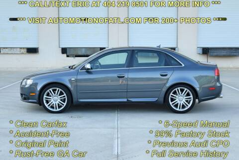 2007 Audi S4 for sale at Automotion Of Atlanta in Conyers GA