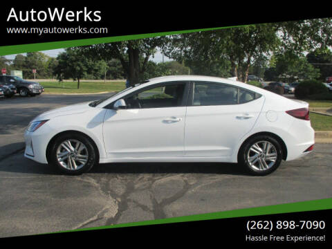 2019 Hyundai Elantra for sale at AutoWerks in Sturtevant WI