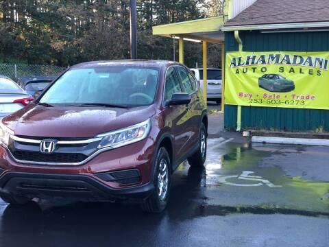 2015 Honda CR-V for sale at ALHAMADANI AUTO SALES in Spanaway WA