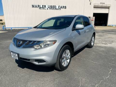 2013 Nissan Murano for sale at MARLER USED CARS in Gainesville TX